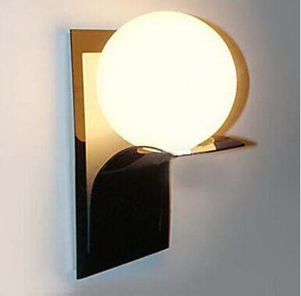 moderno globo bola de metal bao de luz led de pared lmpara de iluminacin del hogar