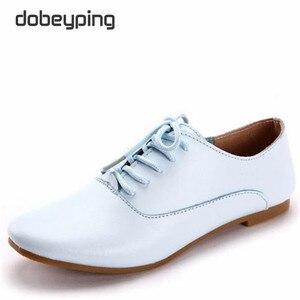 Image 3 - Mocassins en cuir véritable pour femmes, chaussures Oxfords, plates, à bout pointu, souples, chaussures de conduite, nouvelle collection chaussures décontractées à lacets