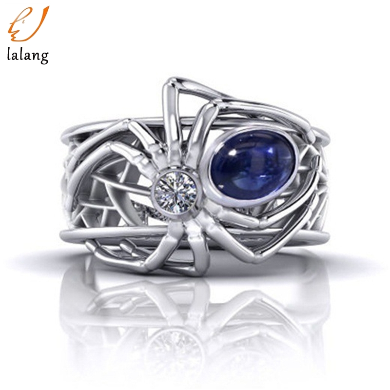 Spider-Ring Engagement-Accessories Punk-Style Wedding Silver Creative Women for Party