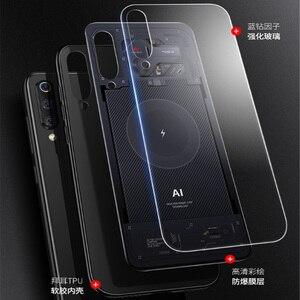 Image 2 - Aixuan Glass Case For Xiaomi mi 9/Mi9 Explorer/Xiaomi mi 9 SE Case painted Tempered Glass Silicon Protective full Cover Cases