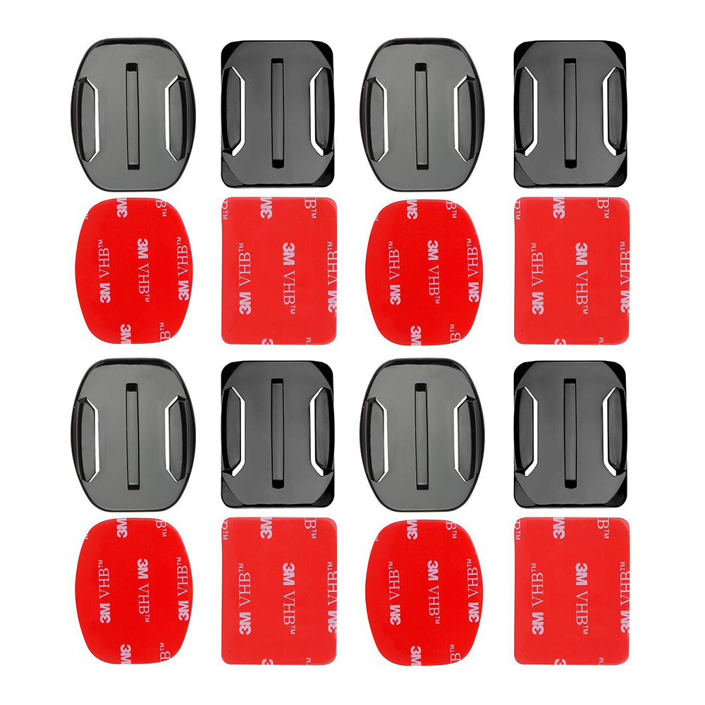 Practical 8pcs Flat Curved Base Mount And Adhesive Stickers For Gopro Hero 5 6 4 3+ 3 Yi 4k Sjcam Sj4000 Mount For Gopro Accessories Set