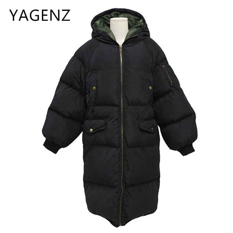 Parkas Winter Jacket Hooded Warm Coats Large Size Korean Women Loose Cotton Long Overcoat Casual Winter Lady Jacket Student 4XL jolintsai winter coat jacket women warm fur hooded woman parkas winter overcoat casual long cotton wadded lady coats