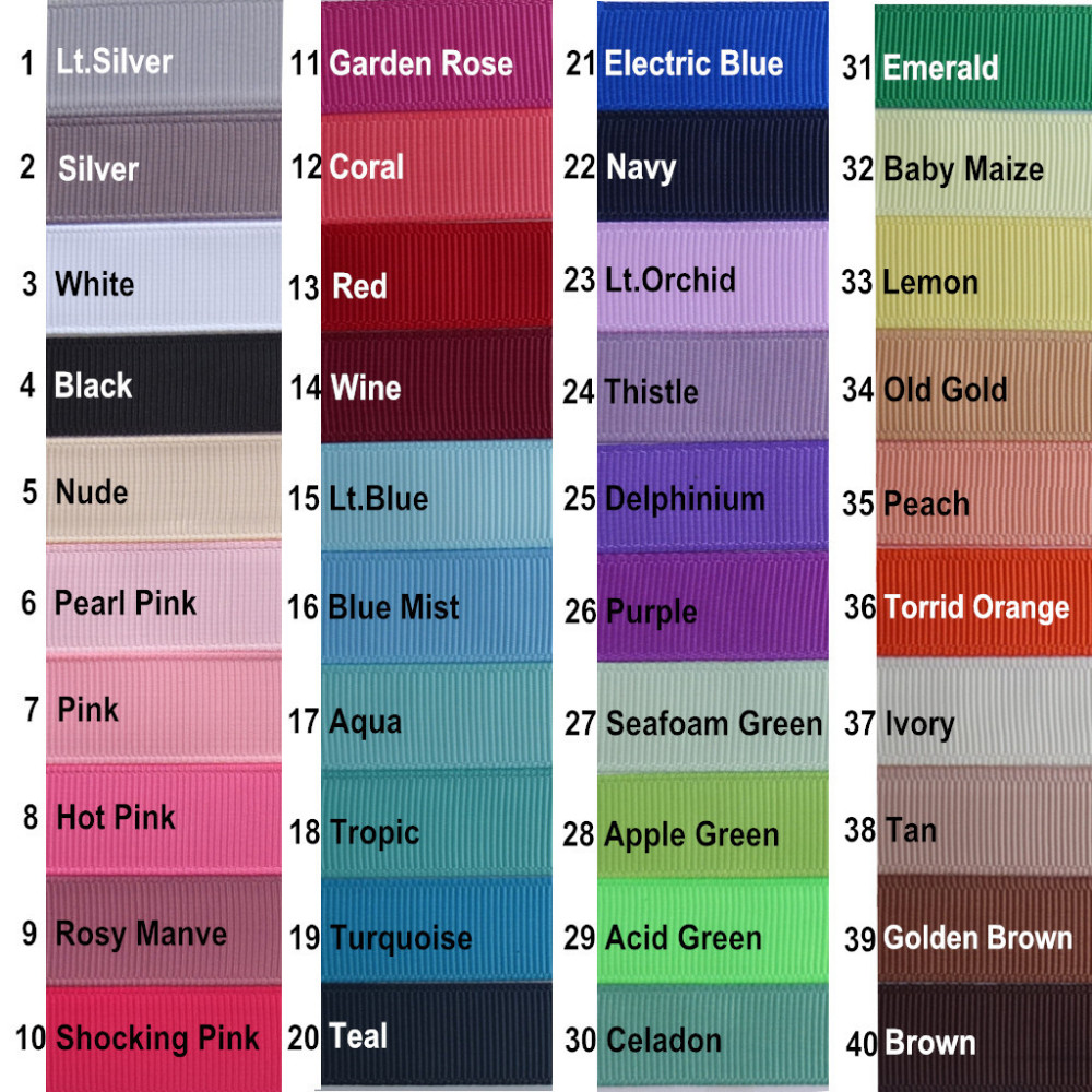 40 stock solid colors card