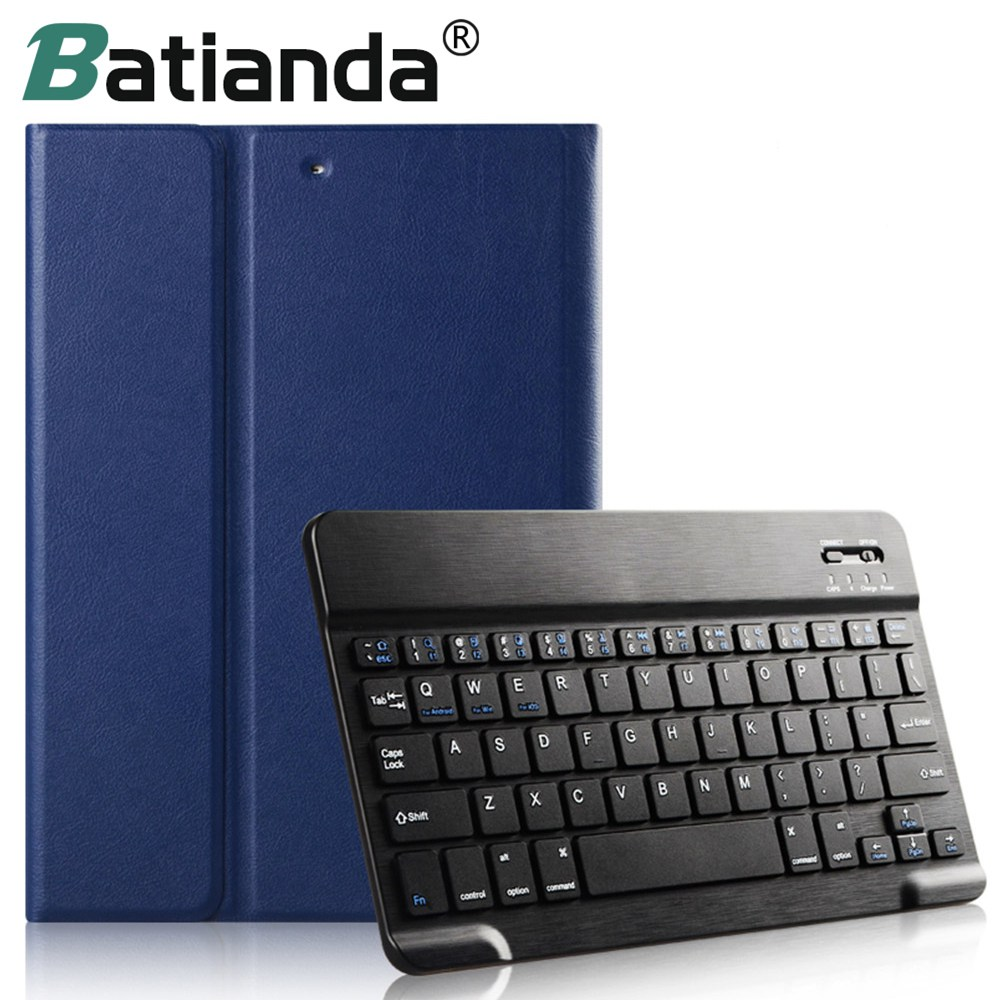 For iPad Mini Keyboard + PU Leather Case Stand Bluetooth Keyboard Smart Case for IPAD MINI 1/2/3 Removable Wireless Keyboard