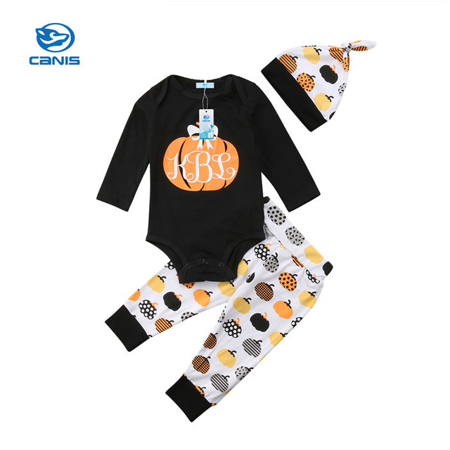 6fa03a402 Newborn clothes for bebes style letter printed casual baby boy girl  Halloween newborn baby clothes baby