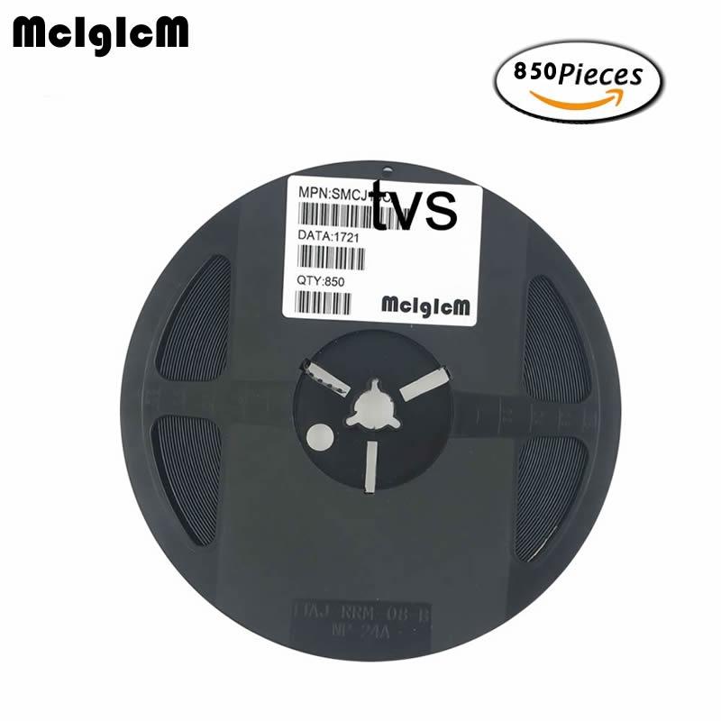 MCIGICM 850pcs 1500W SMC DO 214AB smd tvs diode SMCJ36CA SMCJ40CA SMCJ48CA SMCJ51CA SMCJ75CA SMCJ100CA SMCJ6