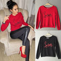 Fashion Womens Winter Spring Casual Loose Long Sleeve Letter Hoodie Pullover Sweatshirt Tops