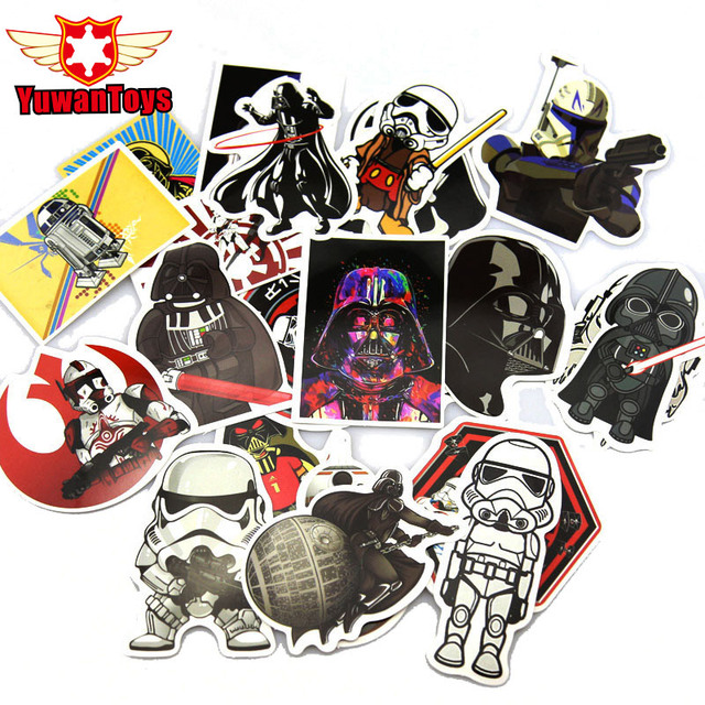 25 pcs star wars stickers luggage laptop sticker styling skateboard diy doodle decals home darth vader