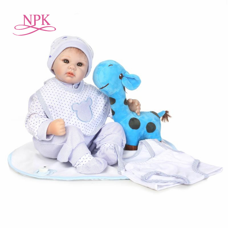 NPK Cute BeBe Reborn Doll PP Cotton Body 55cm Silicone Reborn Baby Dolls Lifelike Newborn Baby Gift Juguetes Babies Toys reikirc cute bebe reborn doll cotton body silicone reborn baby dolls lifelike newborn baby gift babies toys