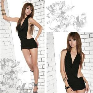 Sexy Women Black Halter Babydoll Exotic Lingerie Porno Underwear Uniform Women Sexy Hot Erotic Costumes Dress Lenceria Mujer