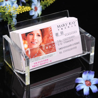 Fashion Clear Business Card Box Holder Card Case Display Jewelry Organizer Shelf Office Stationery Stand Case