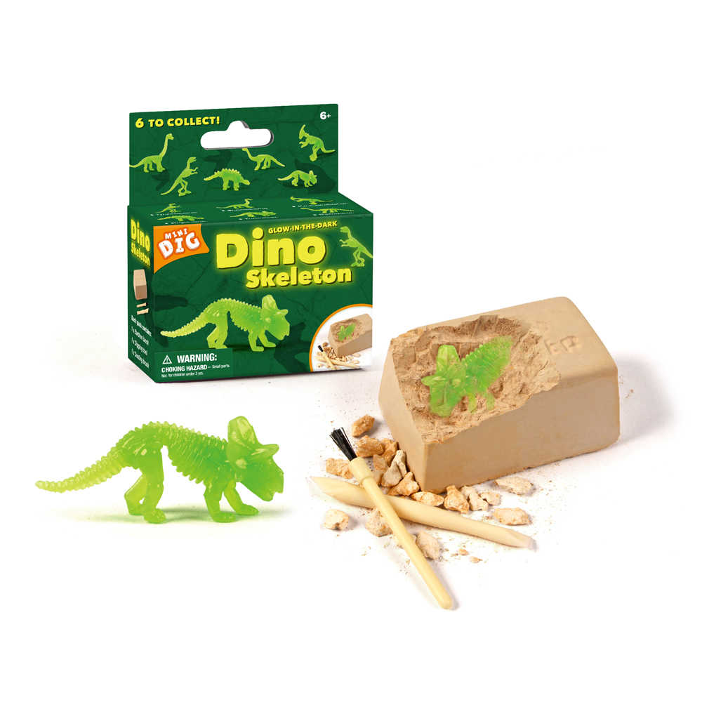 Surwish Children Learning Educational Fluorescence Dinosaur Fossil Excavation Toy Kits with Environmentally Friendly Materials
