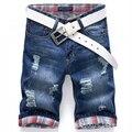 Homens Calções Marca de Verão Dos Homens Novos Shorts Jeans Plus Size 40 Designers de Moda Shorts de Algodão calças de Brim Magros das calças de Brim dos homens Calções homens
