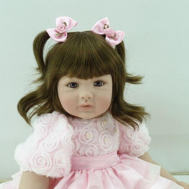 Vinyl silicone reborn baby doll toys 55cm