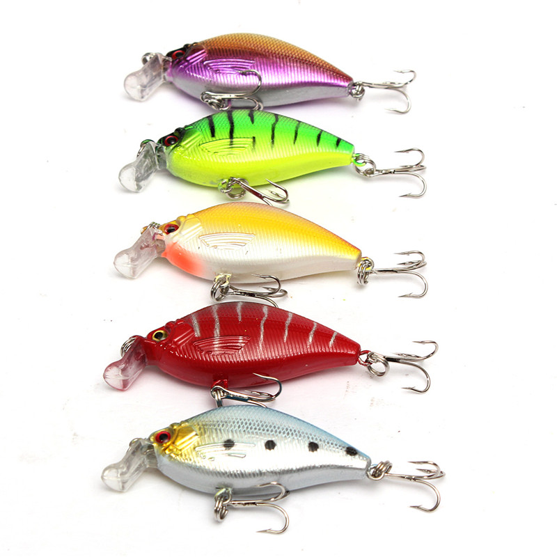 Bobing 4pcs/lot Minnow Fishing Lure 12.5CM 14G Deep Swim Hard Bait Fish Artificial Baits Fishing Wobbler Fishing Accessories