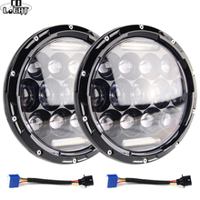 CO LIGHT 7 inch Led Headlight Offroad 4x4 110W with Halo Ring Hi/Lo 12V 24V LED DRL Headlamp for Jeep Wrangler Lada Niva