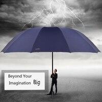 152cm Big Umbrella Famous Brands Windproof Male Women Resistant Waterproof 3 Floding Umbrella Outdoor Rain Sun Parasol Parasol