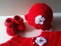 הסרוגה תינוק סוודר כובע נעלי סט אברש יילוד