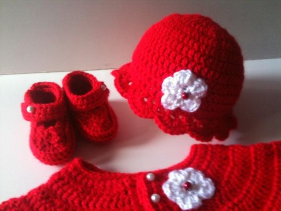 3ccb61cbea90 Crochet Baby Sweater Hat Booties Set Heather Newborn - aliexpress ...