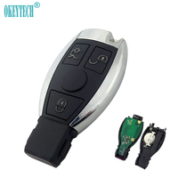 OkeyTech For Mercedes Benz Year 2000+ 3 Button Remote Car Key 433Mhz Replacement Smart Key Auto Car Key with Insert Blade Key