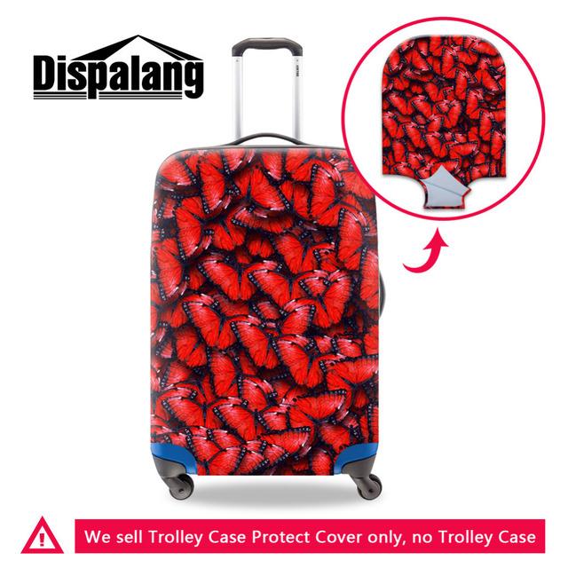 Spandex Impressão Borboleta à prova d' água Bagagem de Viagem Mala Capa Protetora Para 18-30 polegada Elastic Estiramento Capa com Zíper