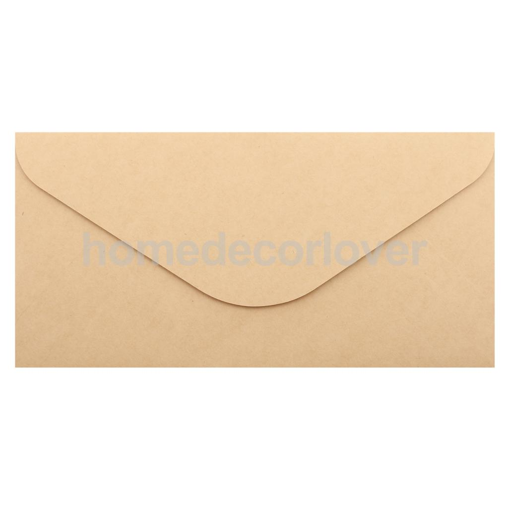 50x Blank Retro Kraft Paper Envelopes for Wedding Party Invites ...