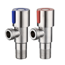 Cold or Hot Water Angle Valve SUS304 Stainless Steel Brushed Filling Toilet Sink Heater Bathroom Accessories