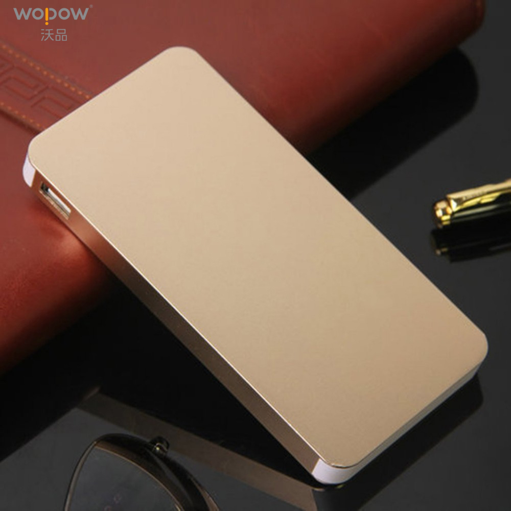 Wopow 8000 mAh Power Bank Ultra Thin protable Double USB powerbank Quick Charger External <font><b>Battery</b></font> For <font><b>cellphone</b></font> with LED Light