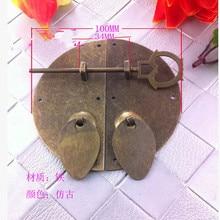 Замок-защелка на ящик под старину диаметр круговой железной ручкой антикварная китайская мебель DIY аксессуары для замка 03