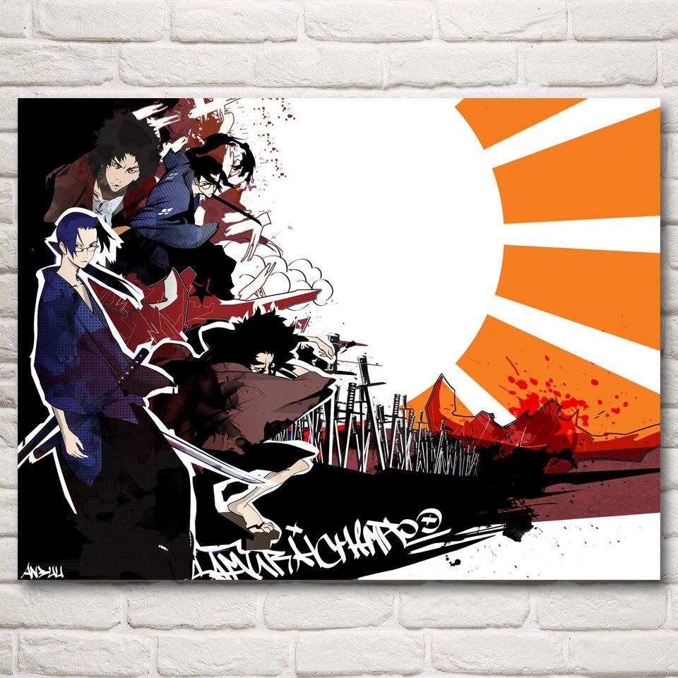 New Custom Silk Poster Samurai Champloo Wall Decor