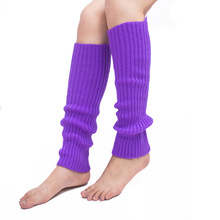 купить Bright color socks sets of knitted feet for fall/winter vertical stripes Candy color Leg Warmers дешево