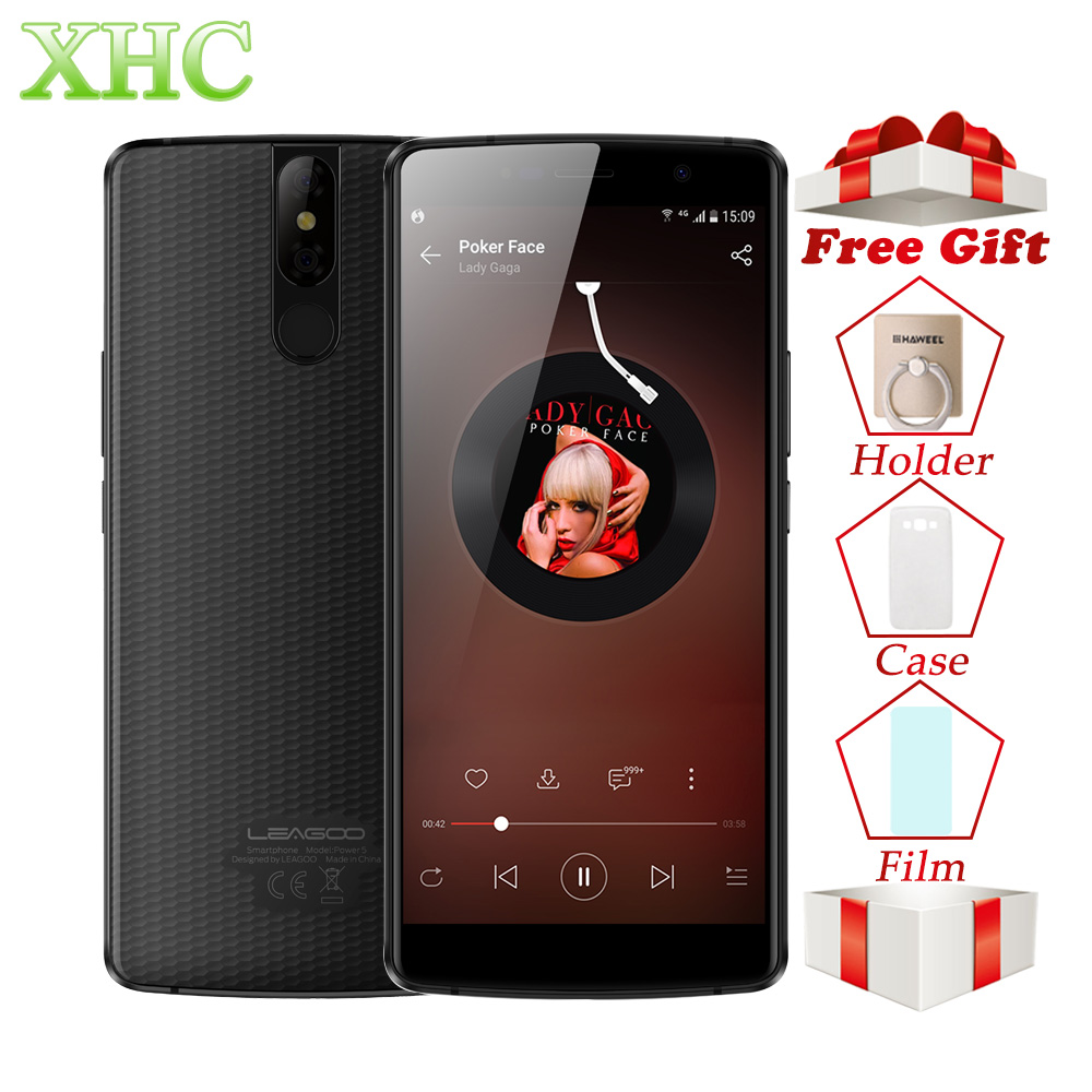 LEAGOO PUISSANCE 5 5.99 FHD + Mobile Téléphone RAM 6 gb ROM 64 gb Double 13MP Caméra Android 8.1 MT6763V Octa Core LTE 4g Double SIM Smartphone