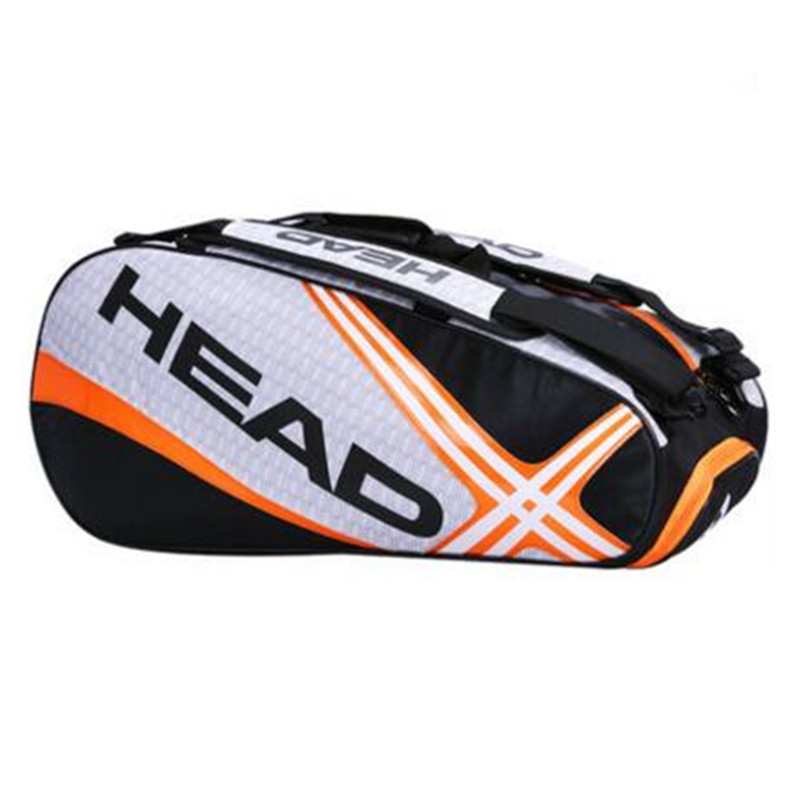 Head Professional Tennis Bag Racket Backpack Badminton Single Shoulder Bag Travel Hiking Outdoor Sports for 6 -9 Rackets In li ning 2018 turbo charging n9 ii badminton rackets single racket professional equipment carbon fiber li ning rackets aypl178