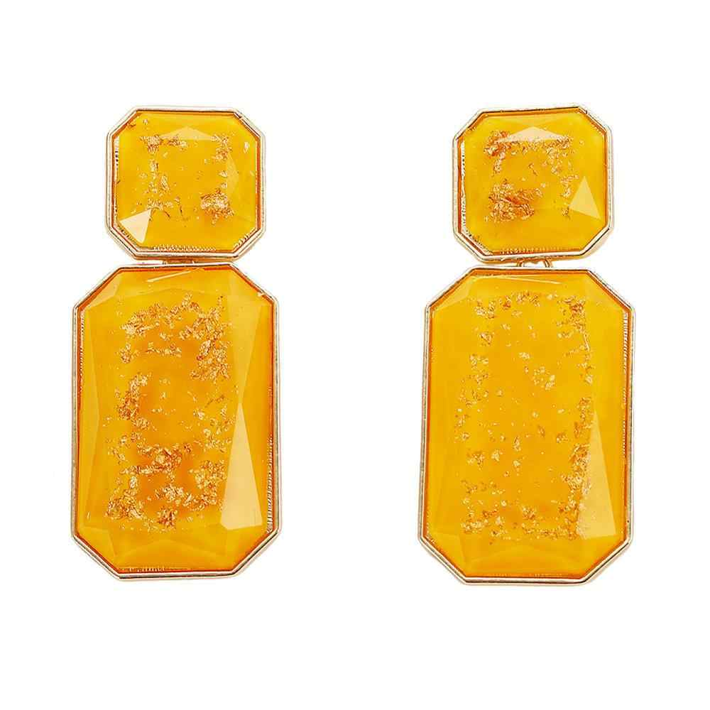 456ede925 ... Best lady Za Yellow Resin Beaded Drop Earrings for Women Wedding Bridal  Gift Ethnic Jewelry Bohemian ...