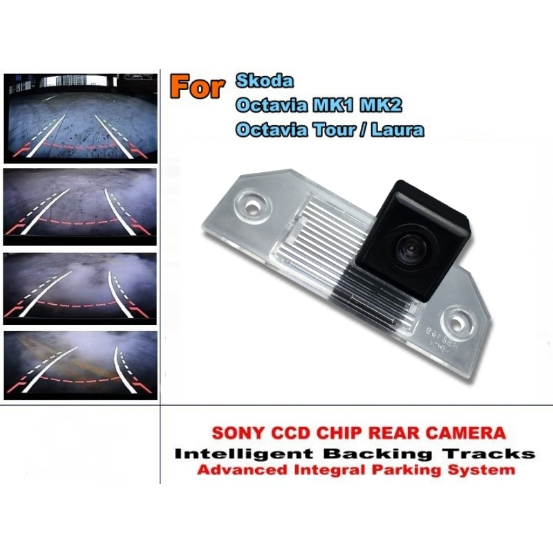 For Skoda Octavia Tour / Laura Intelligent Dynamic Trajectory Tracks Rear View Camera HD CCD Reverse Camera Parking Assistance byncg 12 leds intelligent dynamic trajectory tracks rear view camera ccd reverse backup camera auto reversing parking assistance
