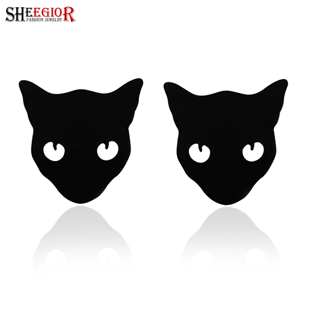 SHEEGIOR Lovely Black Cat Brooch Pins Collar Brooches For Women Mini Lapel Pin Brooches Jewelry Fashion Bijoux Femme Accessories