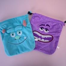 IVYYE 1PCS Sullivan Buzz Aliens Cartoon Drawstring Bags Cute Plush storage handbags makeup bag Coin Bundle Pocket Purse NEW
