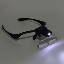 2017 New 3.5X Lens Adjustable Loupe Headband Magnifying Glass Magnifier with LED Glasses Jeweler Watch Repair