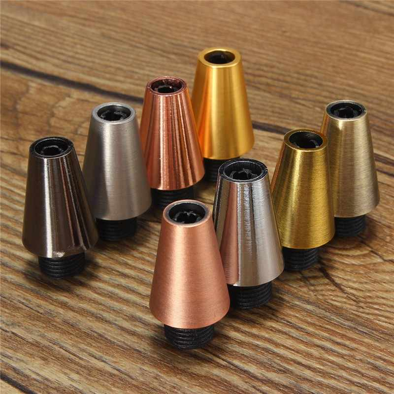 Hot Sale Retro Aluminum Metal Strain Relief Piece Threaded Cord Grip Sewing Cloth Wire Socket Line Cap Pendant Light Cable Lock