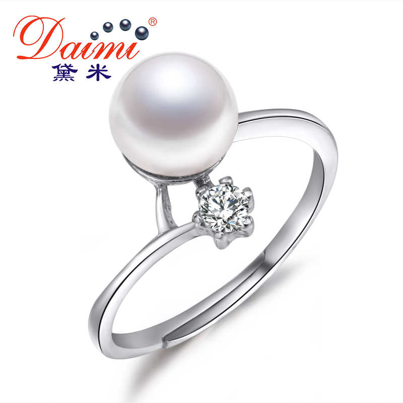 DMRFP067 Real Pearl Ring 8-9mm Freshwater Pearl Ring For Women
