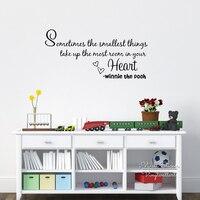 Die Kleinste Sache Quote Wandaufkleber Motivation Zitate Wandtattoo Inspirational Quotes Wand DIY Einfach Wandkunst Cut Vinyl Q104