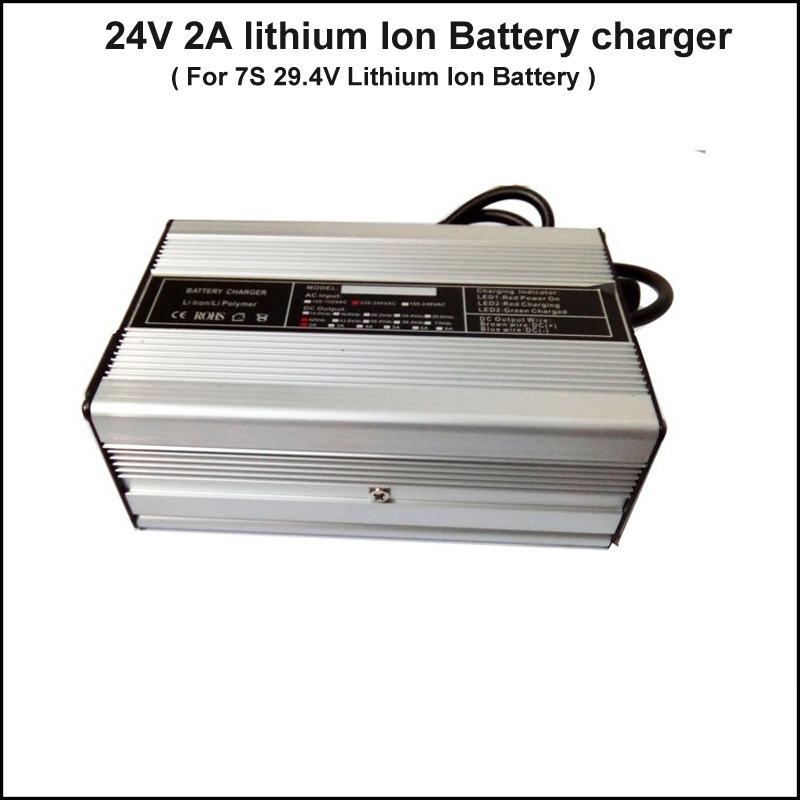 24V 7S electric bike lithium ion battery charger 29 4V ebike battery charger 24V electric bike