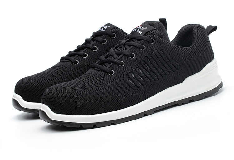 Unisex İş Güvenliği Ayakkabı Moda Siyah Gri HAVA Mesh Nefes Konfor Sneakers Çelik Baotou Aşınmaya Dayanıklı Balıkçılık iş çizmeleri