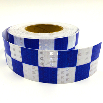 5cm X 5m Acrylic Adhesive Shining Reflective Warning Tape / Square  Printing reflective tape for cars safety