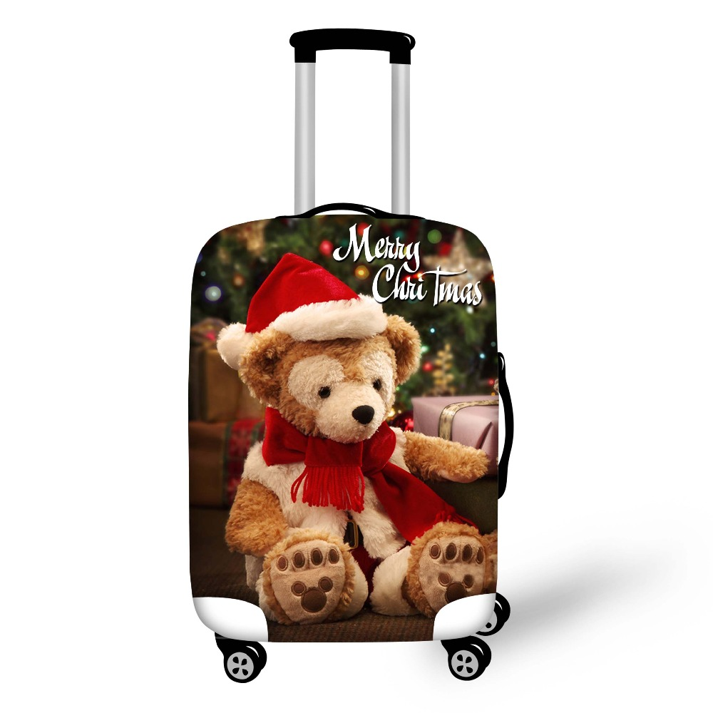 FORUDESIGNS Newest Christmas Gift Suitcase Protective Trunk Cover Case Elastic Travel Luggage Cover Stretch Trolley Dust cover ...
