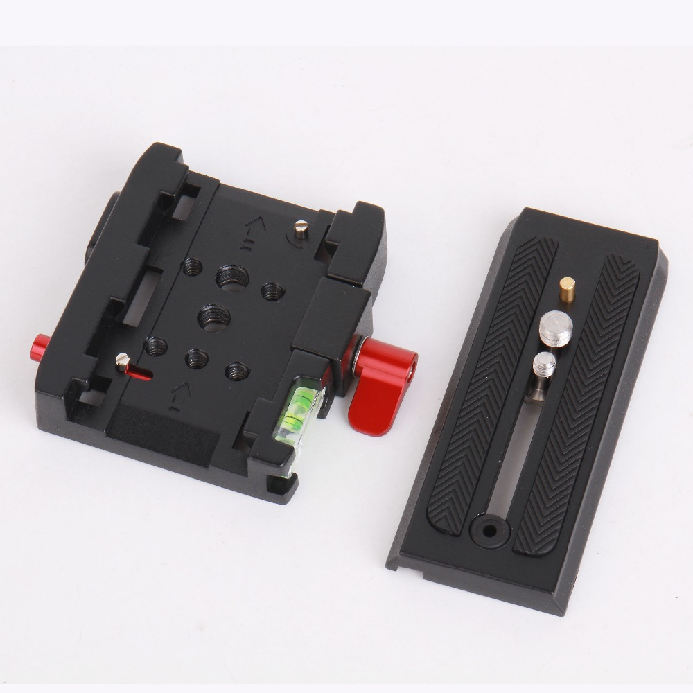 P200 Quick Release Plate Adapter Aluminum Alloy QR Plate for Tripod Manfrotto 501 500AH 701HDV 503HDV Q5