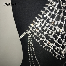 Women Diamonds Hollow Out Bra Glitter Crystal Tank Top