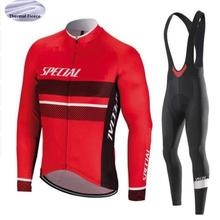 Winter thermal fleece 2019 SPECIALIZEDING Cycling Jerseys Pants Long  Sleeves Bike Clothes ciclismo Men s Bicyle Clothing 662147a99