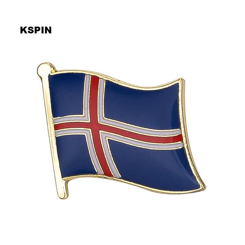 Iceland Flag Pin Lapel Pin Badge 10pcs A Lot Free Shipping