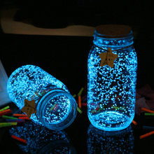 Glow in the Dark Party Decoratie Glow Grind Lichtgevende Noctilucent Zand Aquarium Aquarium Fluorescerende Deeltjes DIY(China)